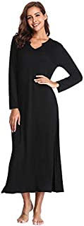 Image of Long Black Nightgown for Women - See More Colors