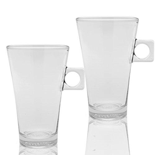 Nescafé Dolce Gusto Latte Macchiato Design Glas, 2er Set, Kaffeetasse, Tasse, Becher, 200 ml