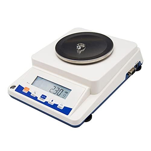 WZ Báscula Laboratorio Alta Precisión Balanza Electrónica Analítica Digital Escala Joyería Escala Científica Precisión 0,1G 0,01G con Adaptador (Size : 610g/0.1g)