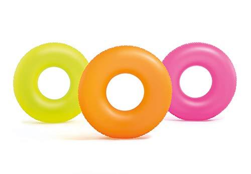 Intex Neon Frost - Juego de 3 tubos de natación inflables para piscina de 91,44 cm