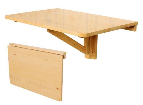 SoBuy® Mesa Plegable de Pared, Mesa de Cocina, Mueble Infantil, Mesa para portátil, Mesa para Comer, Escritorio 60x40cm FWT03-N, Color:Natural