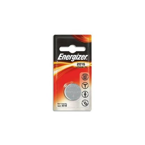 ENERGIZER Lot de 2 Blisters de 1 pile lithium calculatrices/photo CR 2016 3V