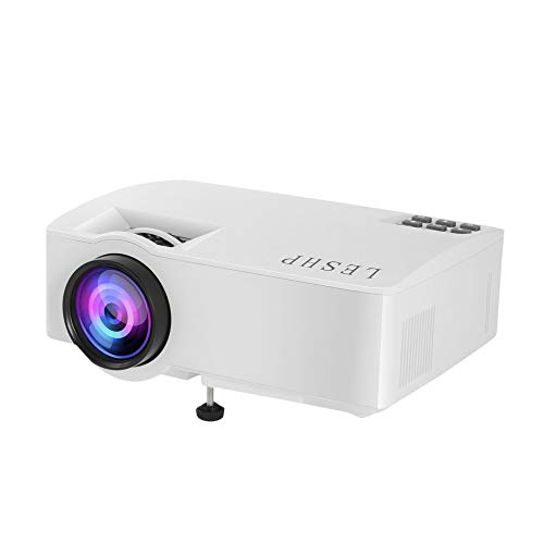 Potable Mini Projector, LED Projector Full HD 1080P Supported, Display for TV Stick, Video Game DVD Player, Smartphone Home Theater