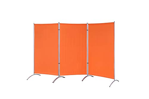 Proman Products Galaxy Indoor Room Divider (3-Panels), 102' W x 23' D x 71' H, Orange