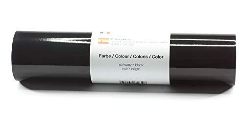 Lámina de plotter autoadhesiva lámina de vinilo 21 cm x 3 m brillo 39 colores a elegir, Glänzend L-Serie:Negro