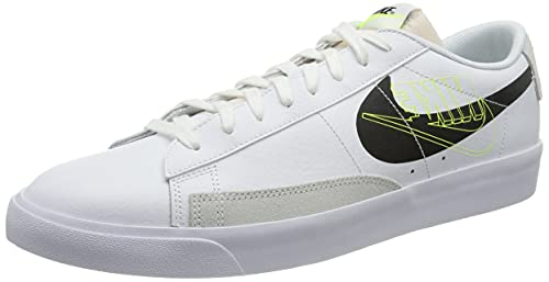 Nike Blazer Low MR, Zapatillas de básquetbol Hombre, White/Black/Volt/Summit White/Sail, 40 EU