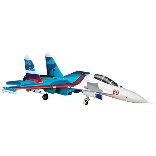 E-flite RC Airplane SU-30 Twin 70mm EDF BNF Basic (Transmitter, Battery and Charger not Included) with AS3X & Safe Select, 1100mm, EFL01050