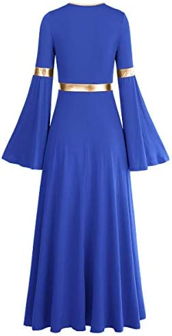 Royal blue with gold dress _image4