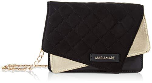 Maria Mare Women's Mady Tote Bag, Brina Black/Soft Black/Patent Black, Mediano
