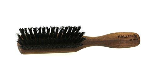 Brosse barbe 3 rangées avec manche Noyer