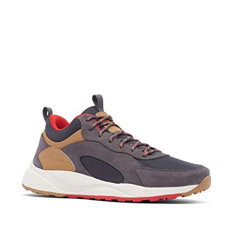 Columbia Pivot Mid Waterproof, Zapatos para Senderismo Hombre, Gris Oscuro, Rojo Oxidado, 47 EU