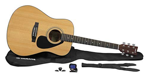 Yamaha GigMaker Deluxe Acoustic Guitar Package with FD01S Guitar, Gig Bag, Tuner, Strap and Picks - Natural