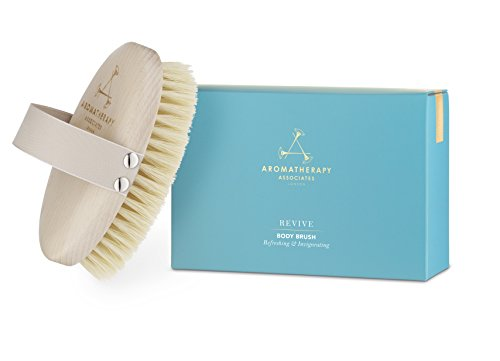 Aromatherapy Associates Revive Body Brush. 100% Natural Vegan Agave Sisal Bristles for Dry Skin Brushing, exfoliate dead skin, detox, stimulate circulation and lymphatic drainage, brighten skin.