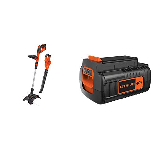 Buy Bargain BLACK+DECKER 40V MAX Cordless Sweeper/String Trimmer Combo Kit with Extra Battery, 2.0-A...