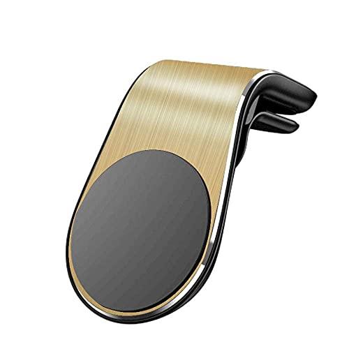 Soporte magnético para teléfono de Coche con Soporte de ventilación de Aire para iPhone X 8 7 XR 6S para Samsung S9 S10 S8 A50 A40 para Huawei P30 Pro P20 -Amarillo