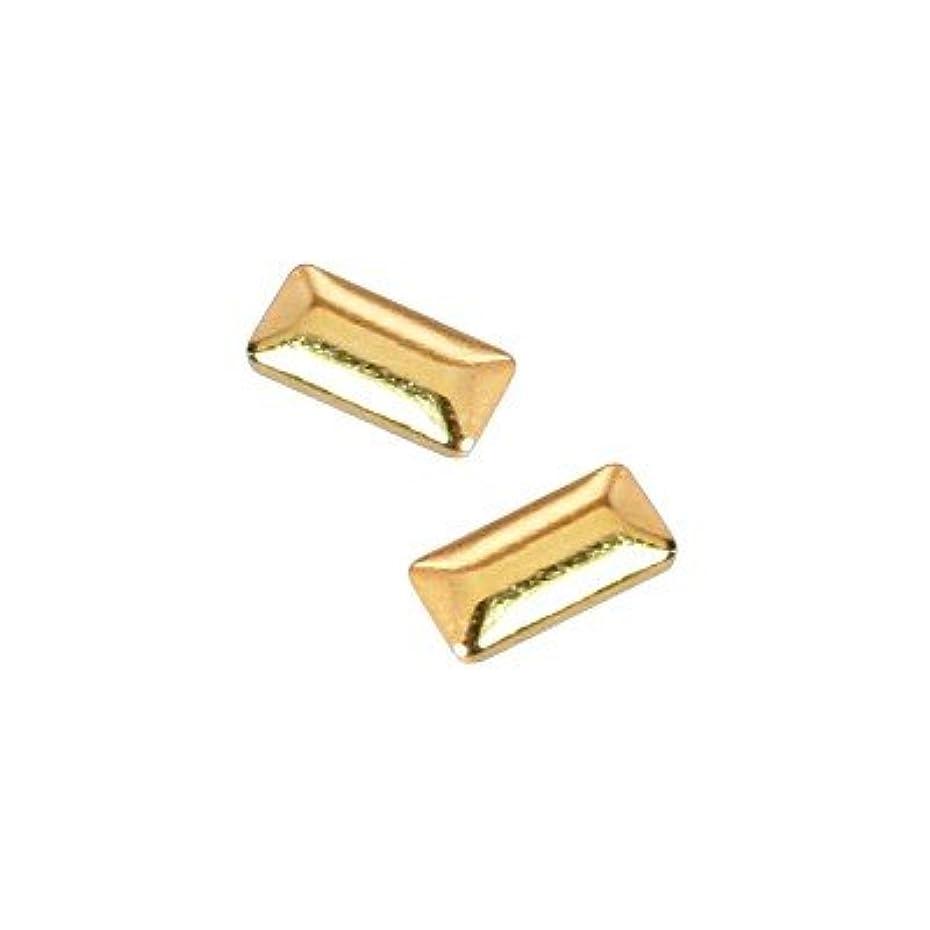 練習裁判所小さいピアドラ スタッズ メタル長方形 1×3mm 50P ゴールド