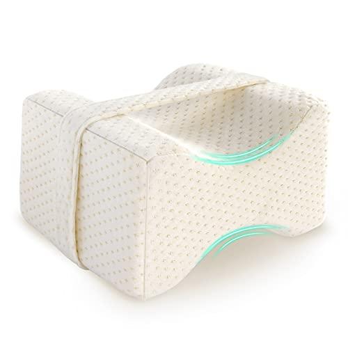mopalwin Almohada de Piernas, Almohada Ortopédica Rodillas, Almohada con Memory Foam Alivia Dolor de Espalda, Opción Ideal para Dormir de Lado