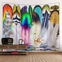 KHKJ Hermoso Tapiz de Plumas Sala de Estar Dormitorio Pintura decoración del hogar Colgante de Pared Personalidad Arte Tapiz A5 150x130cm
