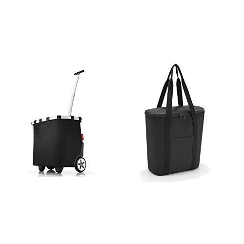 reisenthel carrycruiser schwarz Einkaufstrolley + reisenthel thermoshopper Kühltasche schwarz im Set
