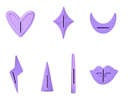 Ensemble de 7 pochoirs de rasage pour femme - Pour épilation - Style intime - Violet