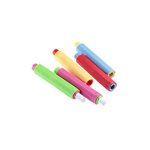 JBNS 5pcs Kunststoff Kreidehalter-Kasten-Abdeckung Für Schule-büro-zufällige Farbe