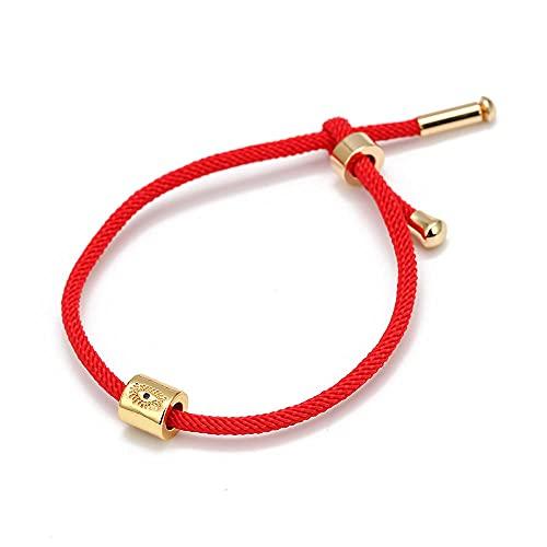 YFZCLYZAXET Pulseras Brazalete Joyería Mujer Pulsera De Encanto De Color Dorado Ajustable Rojo Negro Azul Pulsera Joyería Mujer-5