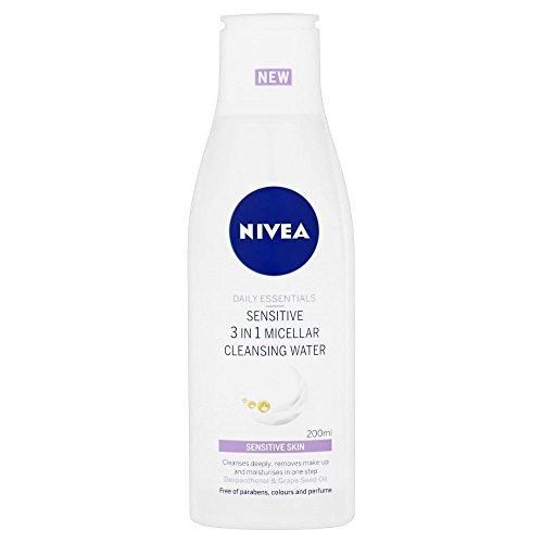 Nivea objets d'usage quotidien sensibles 3 en eau micellaire nettoyante 1 (200ml) (Pack de 2)