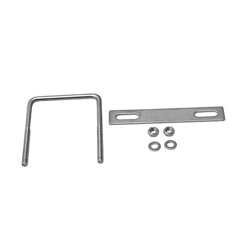 BQLZR 85 mm Innenbreite Silber Edelstahl M8 Gewinde U-Form Bolzen mit rechteckigen Muttern und Unterlegscheiben für Rohrbefestigung
