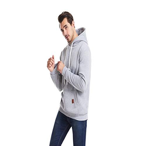 HOSD Ocio Lana suéter Deportes y de de de Chaqueta de Aire Libre al Color Gran tamaño Hombres para de sólido