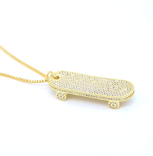 Niaofeces Ketten Hip Hop Gold Farbe Folie Platte Anhänger Halskette Lange Pullover 24