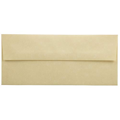 JAM PAPER #10 Business Parchment Envelopes - 4 1/8 x 9 1/2 - Antique Gold Recycled - 25/Pack