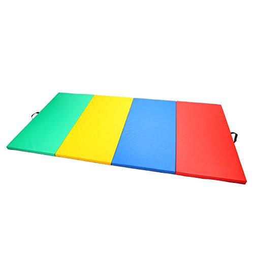 Magshion Gymnastics Gym Folding Exercise Mat Gymnastics Tumbling Aerobics