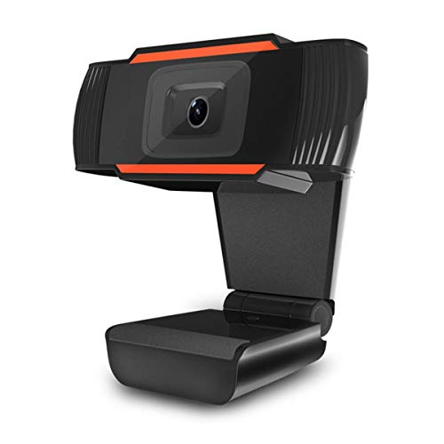 GHKJOK HD Webcam para PC Portátil con micrófono Cámara de Video en Red, Cámara de Enfoque rápido, Cámara portátil USB Plug and Play para Video Chat/educación en línea/transmisión Web 720P