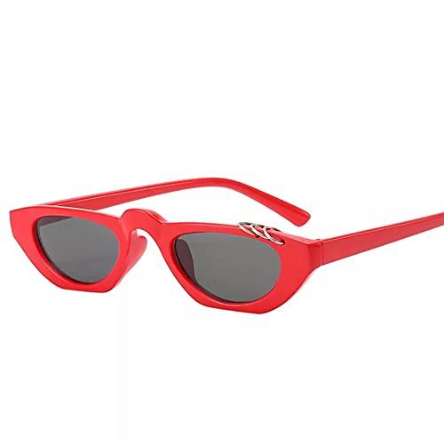 YTYASO Gafas de Sol de Ojo de Gato para Mujer, Gafas de Sol de Ojo de Gato estrechas de Leopardo, Gafas de Sol Femeninas UV400