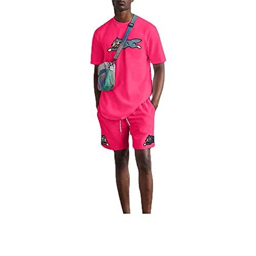 Shirts Pantalones Cortos Hombre Deportes Cuello Redondo Transpirables Hombre Manga Corta Verano Impresión...