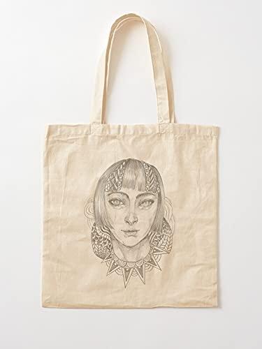 Générique White and Sketch Design Drawing Black Art Cool Line Pencil | Sacs d'épicerie de Toile Sacs fourre-Tout avec poignées Sacs à provisions en Coton Durable