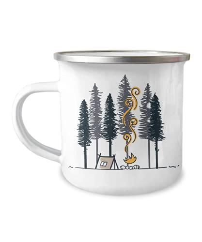 Enamel Camping Mug, Camper Mug, Campfire Mug, Tin Mug, Wild life, adventure mug, nature mug, outdoor mug, mountain mug, hiking mug, camping equipment,