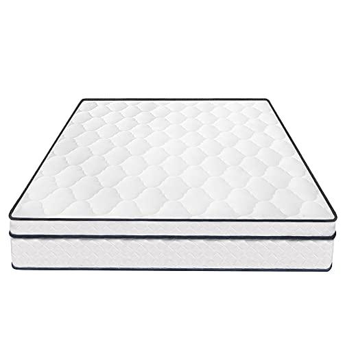 Materasso con Pillow Top 9.8 Pollici Altezza, con 3D Traspirante a Maglia Tessuto Media Pressione ditta di Rilievo di Materasso Resistente al Fuoco (Size : 5FT)