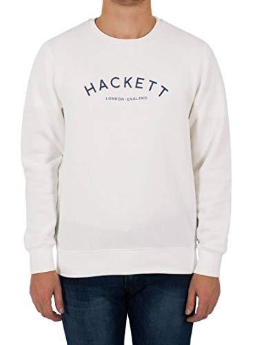 Hackett London MR CLASC Crew Sudadera, Marfil, S para Hombre