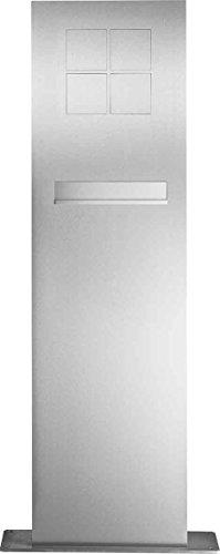 Elcom BK-Standsäule SMB-4/2EM Briefk,4Mod,Edelst Modesta Kommunikations-Säule 4250111845106