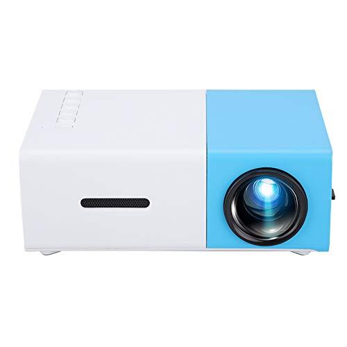 Home Proyector LED 1080P HD, YG300 Mini Proyector de Video portátil con resolución 1920 * 1080, Control Remoto, Conexión de múltiples Dispositivos, para Sala de Estar(Enchufe DE LA UE)