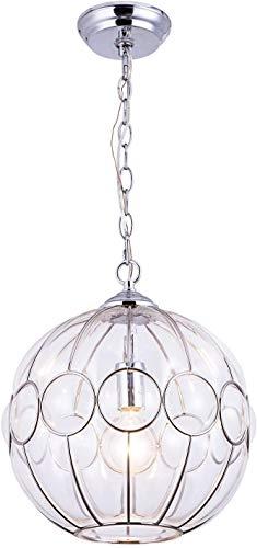 NZDY Lámpara de Luz Chandelier Metal Ballo de Cristal Chandelier Restaurante Dormitorio Cocina Isla Isla Sala de Estar Pequeña Chandelier [Energy Class a +]