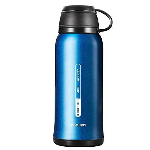 CAIYAH Taza de agua deportiva La taza de agua deportiva portátil no contiene BPA Botella de agua deportiva a prueba de fugas adecuada para acampar en bicicleta y deportes al aire libre Azul