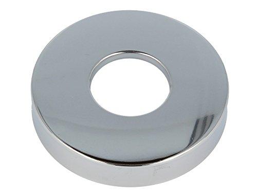 tecuro Schubrosette (1) Ø 32 mm x Ø 80 mm x Höhe 15 mm, messing verchromt