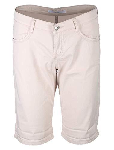 MAC Jeans Damen Shorty Summer clean Shorts, Beige (Ivory PPT 208r), W40(Herstellergröße: 40/09)