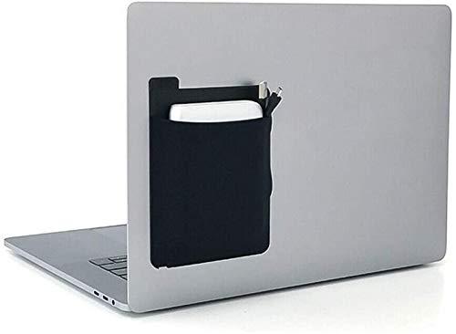 JXXH Adhesive Laptop Back Storage Bag 2 PCS, Estuche portátil para Disco Duro Externo, Bolsillo de Almacenamiento portátil para Disco Duro Externo (Negro 2 Piezas)