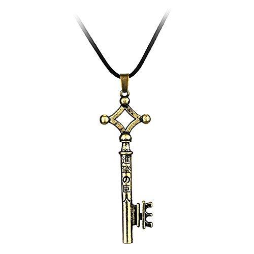BANAMANA Ataque Encanto de la joyería en Titan Collar con Accesorios Traje de la Manera Metal Pendiente dominante del Ornamento para Unisex