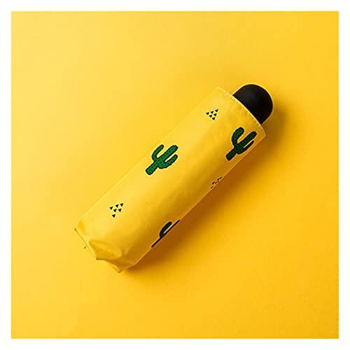 日焼け止め防水日当たりの良い雨傘かわいい サボテン愛の心臓飛行機のパターン屋外の傘世帯の毎日の供給 (Color : Five folding 8K)