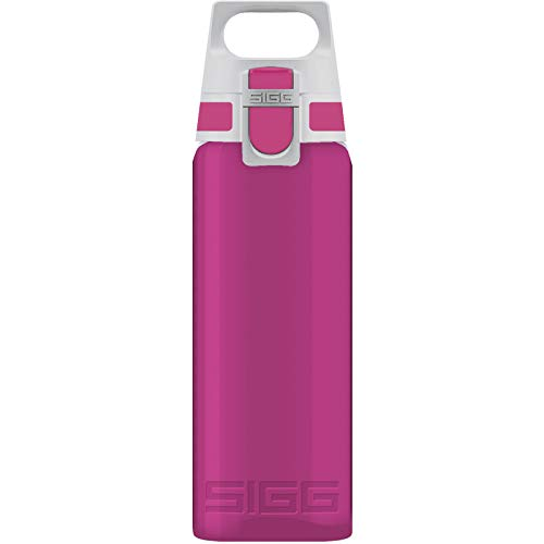 SIGG Total Color Berry Trinkflasche (1 L), schadstofffreie und auslaufsichere Trinkflasche, leichte und bruchfeste Trinkflasche aus Tritan