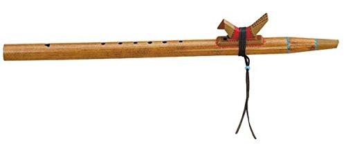 Indianerflöte in Ton E aus PVC mit Totem-Tier traditionell Mund Flöte Indianer Ursprung in Amerika Musik Klang Percussion Weltmusik
